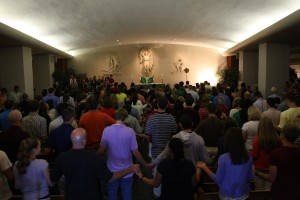 Mass at Virginia Tech War Memorial Chapel